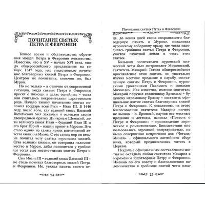 Святые Петр и Феврония Муромские. Вид 2